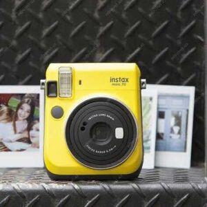 INSTAX - FUJIFILM Instantný žltý fotoaparát Mini 70