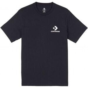 Converse LEFT CHEST STAR CHEVRON TEE čierna M - Pánske tričko
