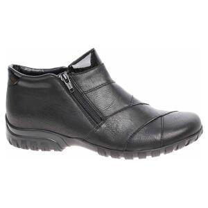 Rieker Dámska členkové topánky Rieker L4673-01 schwarz 37