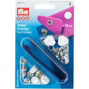PRYM Stláčacie gombíky 390171 Biela 12 mm