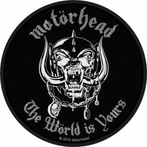 Motörhead The World Is Yours Sew-On Patch