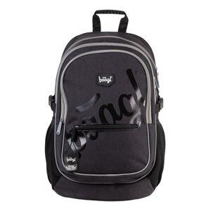 BAAGL Školní batoh Logo Black A-7304 25 l - černá