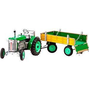 Kovap Traktor s vlečkou na kľúčik, zelený