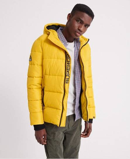 Superdry Sports Puffer Jacket in Yellow (Size: XL)