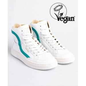 Superdry Vegan Basket Lux Trainers in White (Size: 3)