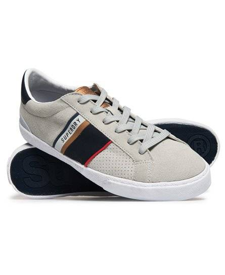 Superdry Vintage Court Trainers in Grey (Size: 6)