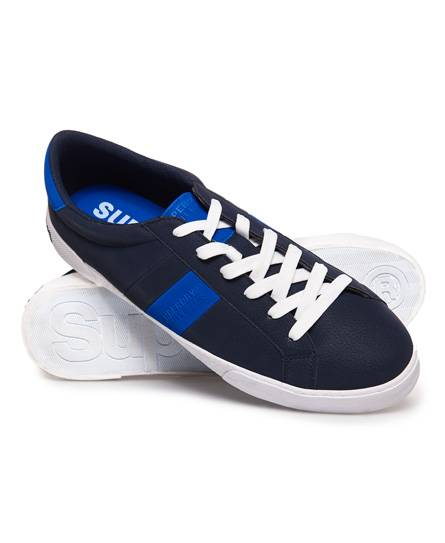 Superdry Vintage Court Trainers in Blue (Size: 6)