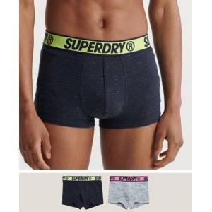 Superdry Organic Cotton Trunk Double Pack in Dark Blue (Size: M)