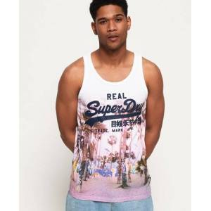 Superdry Vintage Logo Photo Vest Top in White (Size: M)