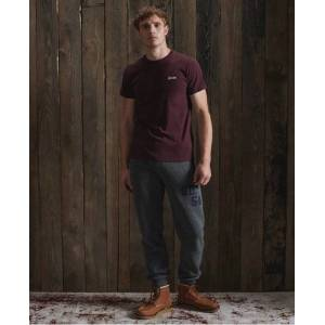 Superdry Organic Cotton Vintage Embroidery T-Shirt in Red (Size: M)