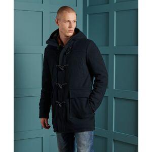 Superdry Foundation Wool Duffle Coat in Dark Blue (Size: XXL)