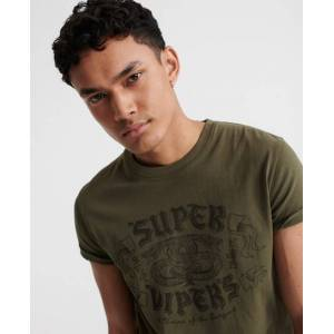 Superdry Military T-Shirt in Orange (Size: M)