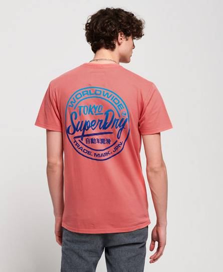 Superdry Ticket Type Oversized Fit T-Shirt in Pink (Size: XS)