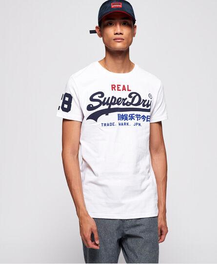 Superdry Vintage Logo Tri T-Shirt in White (Size: XS)