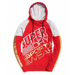 Superdry Street Sports Hoodie in Red (Size: 12)