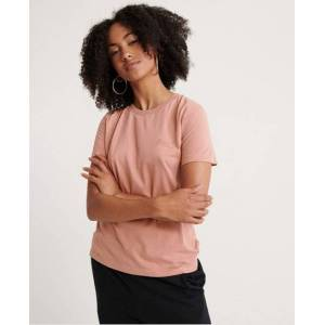 Superdry Orange Label Elite Crew Neck T-Shirt in Pink (Size: 18)
