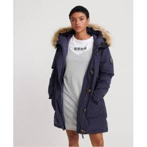 Superdry Rookie Down Parka Jacket in Navy (Size: 6)