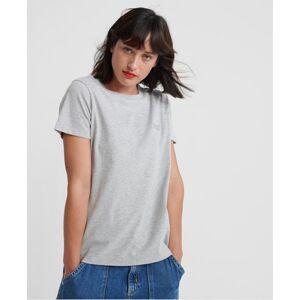 Superdry Orange Label Elite Crew Neck T-Shirt in Light Grey (Size: 18)