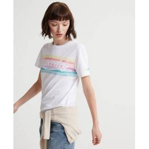 Superdry Rainbow T-Shirt in White (Size: 18)