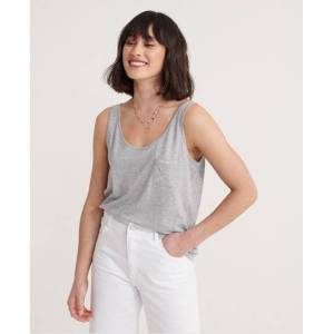 Superdry Organic Cotton Essential Tank Top in Grey (Size: 18)