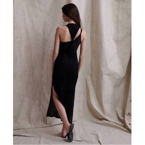 Superdry Nevada Rib Beach Dress in Black (Size: 16)