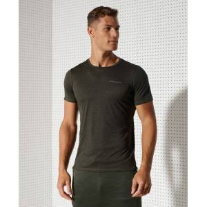 Superdry Sport Training Active T-Shirt in Khaki (Size: XS)