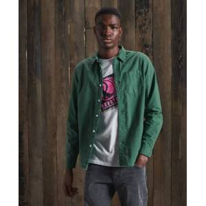 Superdry Line Dried Oxford Shirt in Green (Size: M)