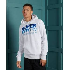 Superdry Limited Edition Embroidery Fade Hoodie in Cream (Size: XL)