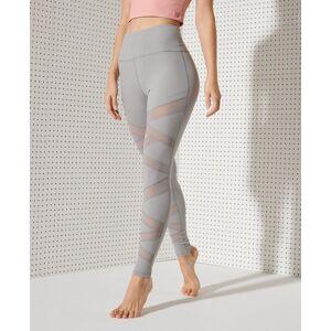 Superdry Sport Flex Mesh Leggings in Light Grey (Size: 10)
