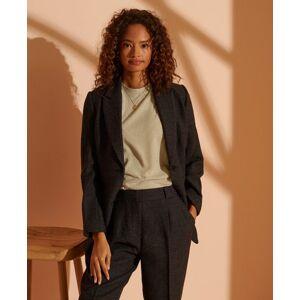 Superdry - Superdry - Cult Studios Women's Women's Limited Edition Wool Blazer in Black (Size: 16)