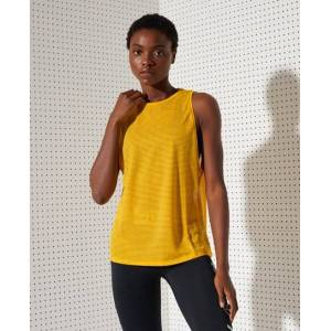 Superdry Sport Training Mesh Tank Top in Yellow (Size: 14)