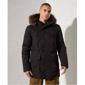 Superdry Sport Everest Down Snow Parka Coat in Black (Size: S)