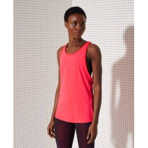 Superdry Sport Training Strappy Tank Top in Red (Size: 16)