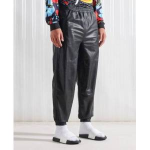 Superdry SDX Limited Edition SDX Unisex Leather Track Pants in Black (Size: S/M)