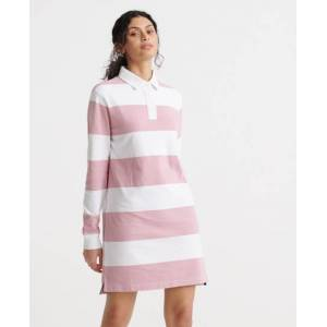 Superdry Summer Rugby Dress in Pink (Size: 12)