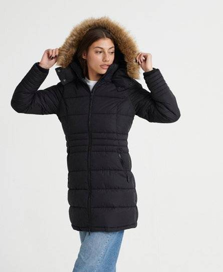 Superdry Kumano Ultimate Parka Coat in Black (Size: 14)