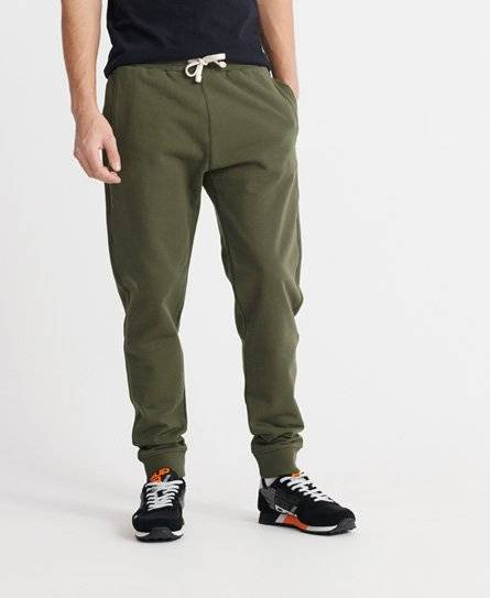 Superdry Organic Cotton Standard Label Loopback Joggers in Khaki (Size: XS)