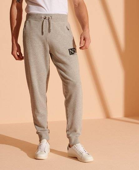 Superdry Contemporary NYC Joggers in Light Grey (Size: M)