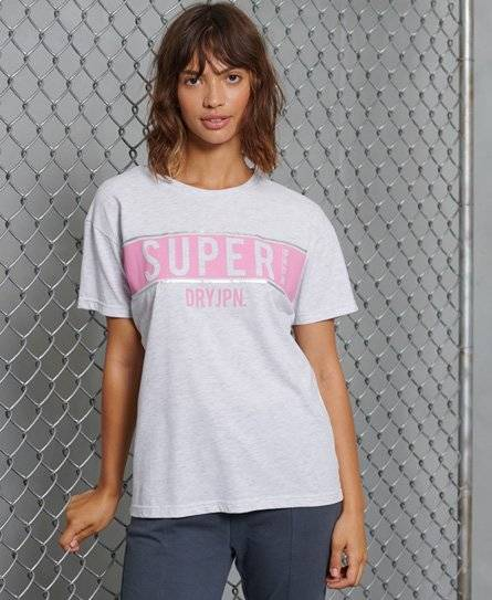 Superdry Panel T-Shirt in Light Grey (Size: 12)
