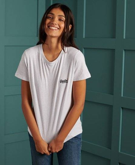 Superdry Organic Cotton T-Shirt in Cream (Size: 12)