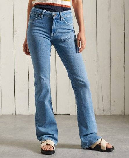 Superdry Mid Rise Slim Flare Jeans in Light Blue (Size: 26/31)