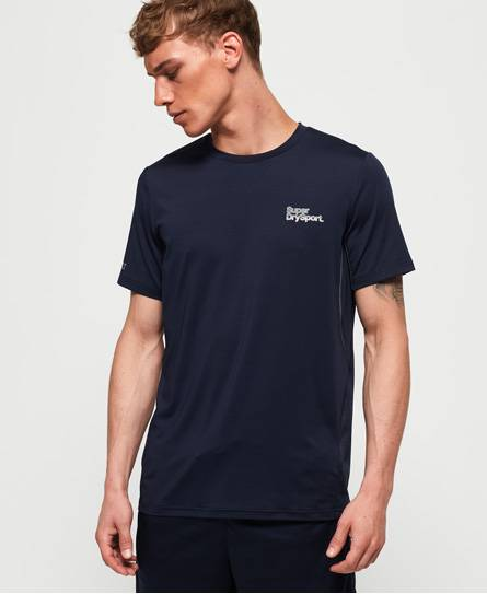 Superdry Active Camo Jacquard T-Shirt in Navy (Size: S)