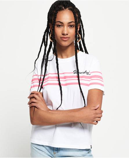 Superdry Leona Graphic T-Shirt in White (Size: 10)
