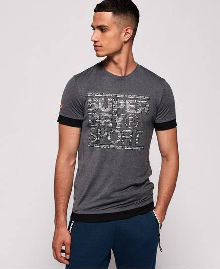 Superdry Gym Tech Longline T-Shirt in Grey (Size: S)