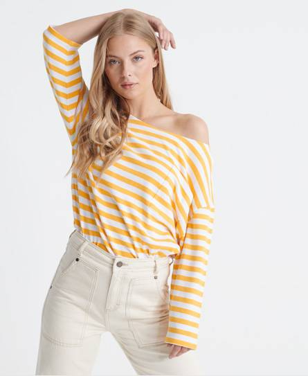 Superdry Edit Cruise Top in Yellow (Size: 12)