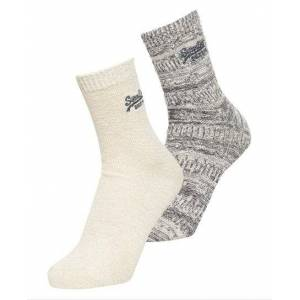 Superdry All Over Sparkle Socks Double Pack in Multiple Colours (Size: 1SIZE)