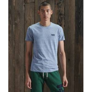 Superdry Organic Cotton Vintage Embroidery T-Shirt in Light Blue (Size: M)