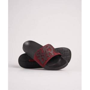 Superdry High Build Pool Sliders in Red (Size: L)