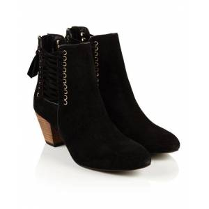 Superdry Siri Lace Up Boots in Black (Size: 5)
