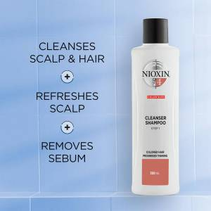 NIOXIN 3-Part System 4 Cleanser Shampoo for Coloured Hair with Progressed Thinning 1000ml
